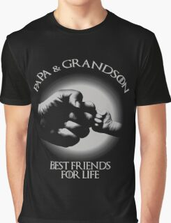 Papa And Grandson Best Friends For Life Graphic T-Shirt