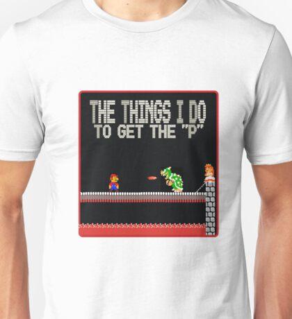 mario need the P Unisex T-Shirt