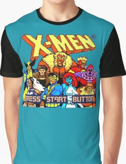 X-MEN Retro Game Design Graphic T-Shirt