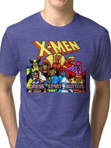 X-MEN Retro Game Design Tri-blend T-Shirt