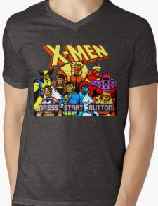 X-MEN Retro Game Design Mens V-Neck T-Shirt