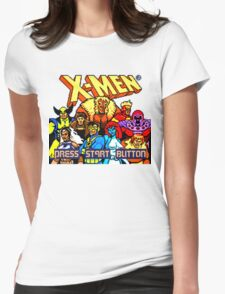 X-MEN Retro Game Design Womens Fitted T-Shirt