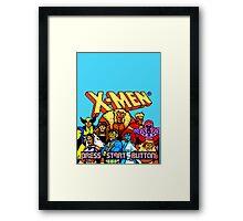 X-MEN Retro Game Design Framed Print