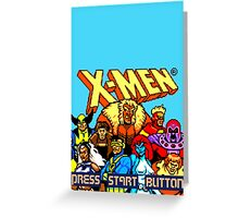 X-MEN Retro Game Design Greeting Card