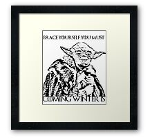 Coming winter is Framed Print