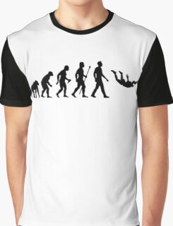 Funny Skydiving Evolution Of Man Graphic T-Shirt