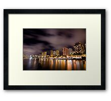 Waikiki Night Framed Print