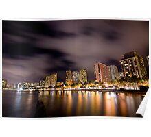 Waikiki Night Poster