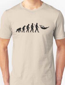 Funny Skydiving Evolution Of Man Unisex T-Shirt