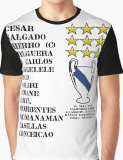 Real Madrid 2002 Champions League Winners Graphic T-Shirt