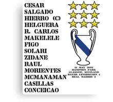 Real Madrid 2002 Champions League Winners Canvas Print
