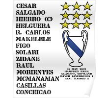 Real Madrid 2002 Champions League Winners Poster