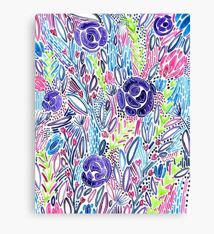 Floral Watercolors Canvas Print