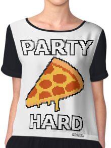 Party Pizza Pixel Art Chiffon Top