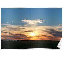 South Dakota Sunset Poster