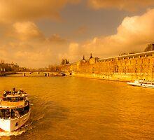 Après-midi sur la Seine - Parisan Dream by Mark Tisdale