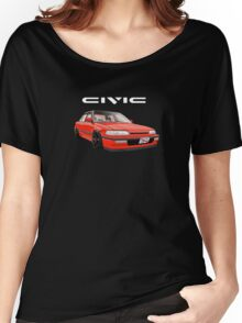 Civic Ef Sedan Jdm Women's Relaxed Fit T-Shirt