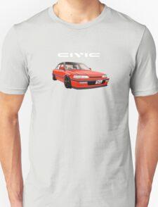 Civic Ef Sedan Jdm Unisex T-Shirt