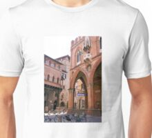 The ancient streets of Bologna Unisex T-Shirt