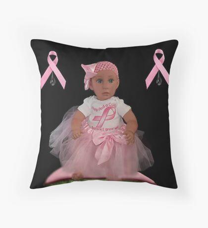 ✿♥‿♥✿HELP FIND A CURE CANCER-CHILDRENS AWARENESS THROW PILLOW A HEARTFELT DEDICATION✿♥‿♥✿ Throw Pillow