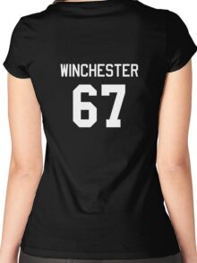 Winchester Jersey (White) Women's Fitted Scoop T-Shirt