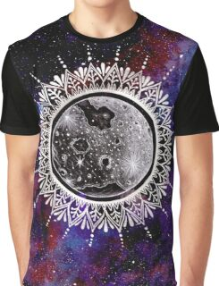 Galaxy Moon Mandala Graphic T-Shirt