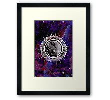 Galaxy Moon Mandala Framed Print