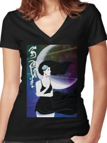 SOULful Vizion Women's Fitted V-Neck T-Shirt