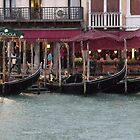 Gondolas in the Rain by Marylou Badeaux