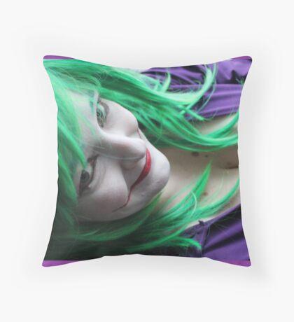 Evil Little Smile Throw Pillow