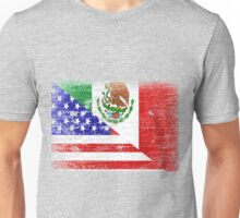 Vintage Mexican American Flag Cool T-Shirt Unisex T-Shirt