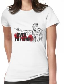 Over the Line! Womens Fitted T-Shirt