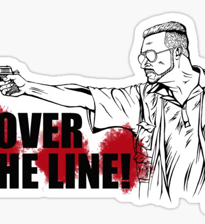 Over the Line! Sticker