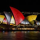 Night Sails - Sydney Opera House - Sydney Vivid Festival by Bryan Freeman