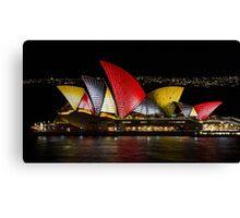 Night Sails - Sydney Opera House - Sydney Vivid Festival Canvas Print