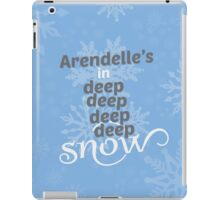 deep deep deep deep snow iPad Case/Skin