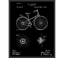 Bicycle Patent - Black Photographic Print