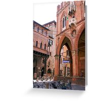 The ancient streets of Bologna Greeting Card