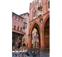 The ancient streets of Bologna Photographic Print