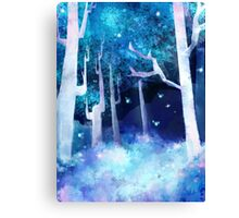 A Forest of Fireflies Canvas Print