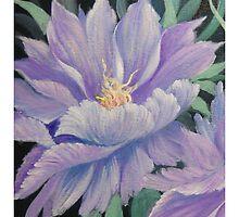 Wild Flowers throw pillow by Dian Bernardo