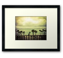Rainclouds Over the Pacific Framed Print