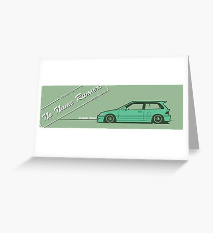 honda civic ef hatchback Greeting Card