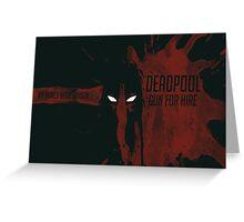 Deadpool - Gun for Hire Greeting Card