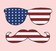 Patriotic Funny Face Kids Clothes