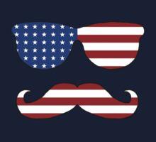 Patriotic Funny Face Kids Clothes