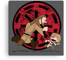 Lets Be Jedi (Qui Gon & Anakin EP1) Canvas Print