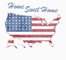 America Home Sweet Home One Piece - Short Sleeve