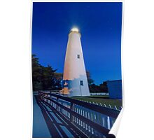 ocracoke islad lighthouse Poster