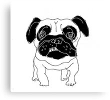 pug sketch Canvas Print
